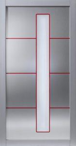 Tür rote Fräsung