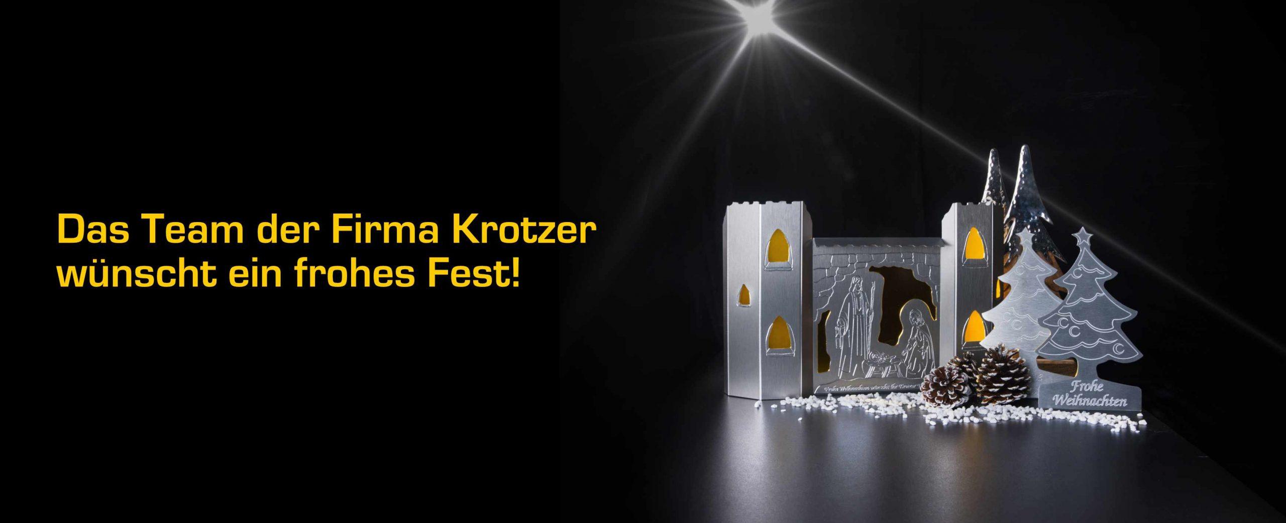 Das Team der Firma Krotzer wünscht ein frohes Fest!