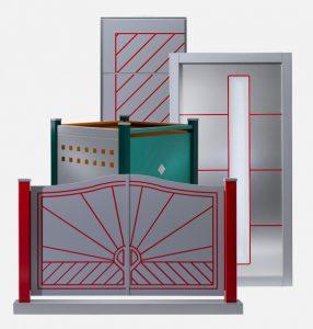 Tür-/Tor-Collage